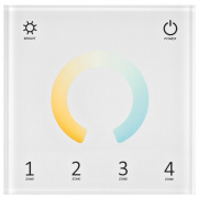 Ledissimo DUAL-Color-Funk-Touchpanel, EASY CONNECT, 4-Zonen