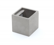 Mobile Preview: Cube Wandaufbauleuchte Beton grau G9 1x max. 25,00 W 11,5cm - Deko-Light