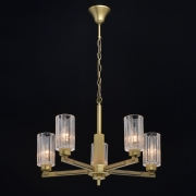 Preview: Deckenleuchte Classic von MW-Light brass, Metall transparent, glass 5x40W E14
