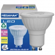 Mobile Preview: Megaman LED-Reflektorlampe, PAR16, GU10/230V/5W (50W), 410 lm, 2800K