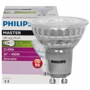 Preview: Philips LED-Reflektorlampe, PAR16, MASTER LEDSPOT VALUE, GU10