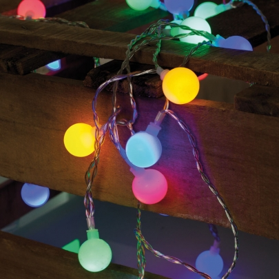 Best Season LED-Partylichterkette, bunt, L 7,35 m