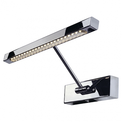 LED Bilderleuchte STRIP, chrom, 2W, inkl. LED Strip mit 24 warmweissen LED