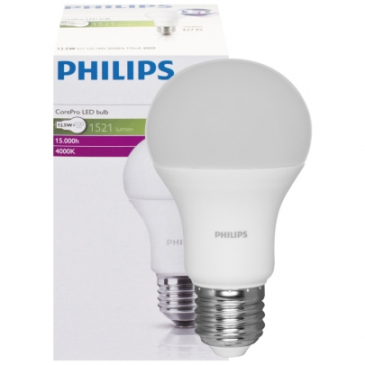 Philips LED-Lampe, COREPRO LEDBULB, AGL-Form, matt, E27, 4000K