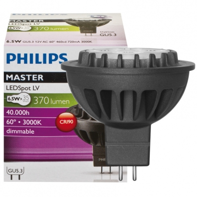 Philips LED-Reflektorlampe, MR16, MASTER LEDSPOT, GU5,3/12V, Abstrahlwinkel 24°