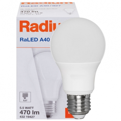 Radium LED-Lampe, RaLED ESSENCE STANDARD, AGL-Form, matt, E27, 2700K
