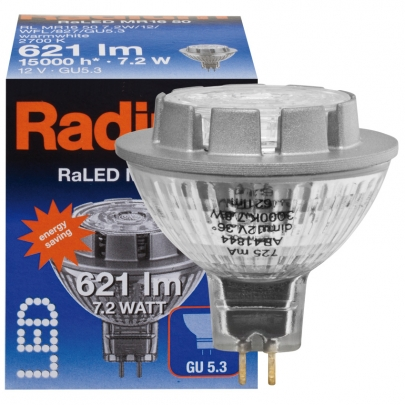 Radium LED-Reflektorlampe, MR16, RALED, GU5,3/12V