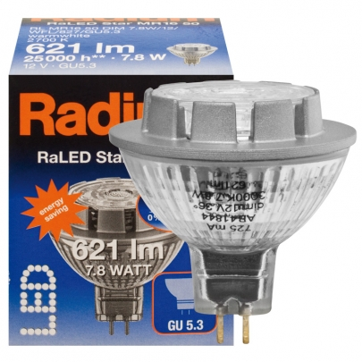 Radium LED-Reflektorlampe, MR16, RALED STAR, GU5,3/12V
