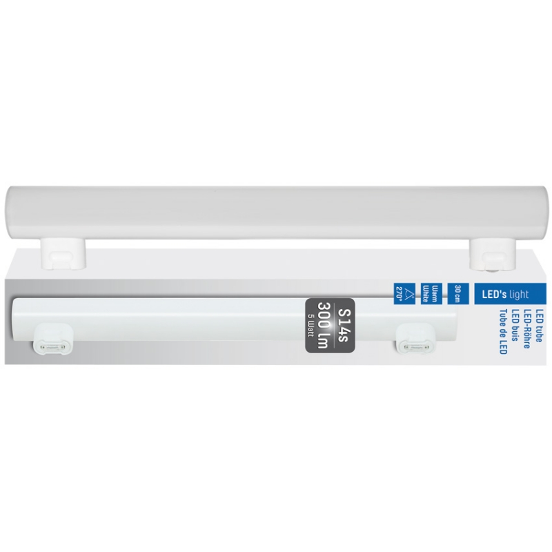 Leds Light LED-Linienlampe, opal, 2-Sockel-S14s/230V