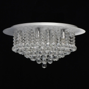 Deckenleuchte Crystal von MW-Light brushed silver, Metall transparentl, crystal 9x40W E14