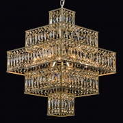 Deckenleuchte Crystal von MW-Light pear gold, Metall champagne, crystal 16x40W E14