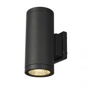 ENOLA_C OUT UP-DOWN Wandleuchte, rund, anthrazit, 9W LED, 3000K
