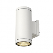 ENOLA_C OUT UP-DOWN Wandleuchte, rund, weiss, 9W LED, 3000K