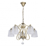Hängeleuchte Classic von MW-Light antike Messingfarbe, Metall transparent, glass transparent, crystal 5x40W E14 2700К