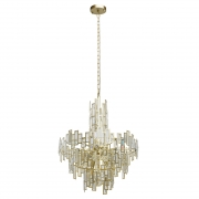 Hängeleuchte Crystal von MW-Light gold, Metall transparent, crystal 11x40W E14 2700K