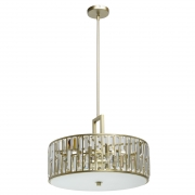 Hängeleuchte Crystal von MW-Light gold, Metall transparent, crystal 5x40W E27 2700K
