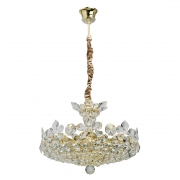 Hängeleuchte Crystal von MW-Light gold, Metall transparent, crystal 8x40W Е14 2700K