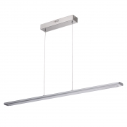 Hängeleuchte Hi-Tech von De Markt Chromfarben, stainless steel Silberfarbe, aluminium Matt acrylic, lampshade 4x4.8W LED SMD 1530Lm 3000K LED included IP20