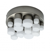 Hängeleuchte Hi-Tech von De Markt satin nickel, Metall aluminum frosted, acrylic 28W LED 3000K