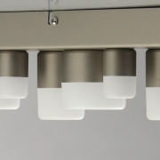 Hängeleuchte Hi-Tech von De Markt satin nickel, Metall aluminum frosted, acrylic 36W LED 3000K