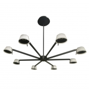 Hängeleuchte Loft von RegenBogen black, Metall white, acrylic 38W LED 2400 Lm 4000K can be dimmable with wall switch