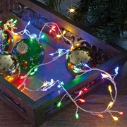 LED-Minilichterkette, 100 bunte LEDs