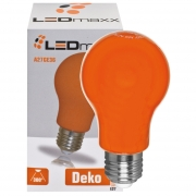 Ledmaxx LED-Lampe, AGL-Form, E27/240V/3W, orange, L 108, Ø 60