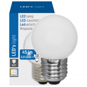 Leds Light LED-Lampe, Tropfen, <STRONG>IP54</STRONG>, E27/0,8W, satiniert, 45 lm, 3000K, L 69, Ø 45