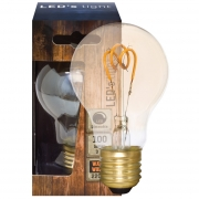 Leds Light Spiral-LED-Lampe, AGL-Form, E27/240V/3W, gold getönt, 100Lm, L 105, Ø 60 dimmbar