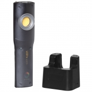 Leds Work LED-Akku-Handleuchte, 10W/COB-LED, 800Lm, 5000K, IP44, IK07