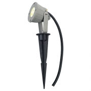 NAUTILUS SPIKE LED KOMPAKT, silbergrau, 230V, 3,3W, warmweiss, IP44