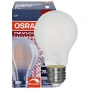 Osram LED-Filament-Lampe, PARATHOM ADVANCED RETROFIT CLASSIC A, AGL-Form, matt, E27, 2700K
