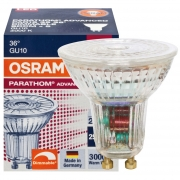 Osram LED-Reflektorlampe, GU10/240V/3,1W, PAR16, Flood 36°, 230Lm, 565 cd, 3000K, L 55, Ø 51 dimmbar