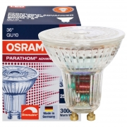 Osram LED-Reflektorlampe, GU10/240V/4,6W, PAR16, Flood 36°, 350Lm, 750 cd, 3000K, L 55, Ø 51 dimmbar