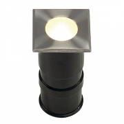 POWER TRAIL-LITE square, Edelstahl 316, 1W LED, warmweiss, IP67