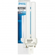 Philips Energiesparlampe, MASTER PL-C, G24d-2/18W, LF 830, Länge 150