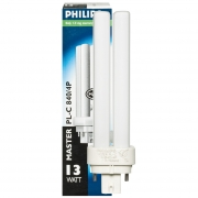 Philips Energiesparlampe, MASTER PL-C, G24q-1/230V/13W, LF 830, L 131
