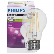 Philips LED-Filament-Lampe, AGL-Form, klar, E27