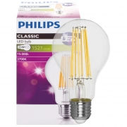 Philips LED-Filament-Lampe, AGL-Form, klar, E27/240V