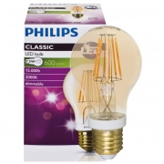 Philips LED-Filament-Lampe, CLASSIC, AGL-Form, gold, E27/8W, 630lm