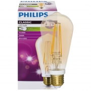 Philips LED-Filament-Lampe, CLASSIC, Edison-Form, gold, E27