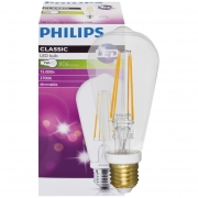 Philips LED-Filament-Lampe, CLASSIC, Edison-Form, klar, E27/8W, 806lm