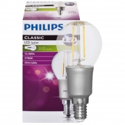 Philips LED-Filament-Lampe, CLASSIC, Tropfen-Form, klar, E14