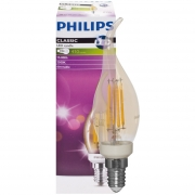 Philips LED-Filament-Lampe, Kerzen-Form, gold, E14/5W, dimmbar