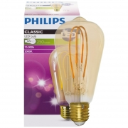 Philips LED-Filament-Lampe, VINTAGE, Edison-Form, gold, E27/5W, 250lm