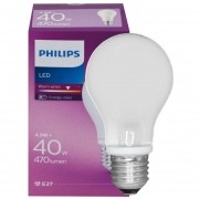 Philips LED-Lampe, CLASSIC, AGL-Form, matt, E27, 2700K