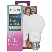 Philips LED-Lampe, SCENE SWITCH, DimTone, AGL-Form, matt, E27/8W, (60W), 806 lm, 2700 bis 2200K