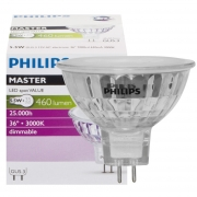 Philips LED-Reflektorlampe, MASTER LEDSpot Value, GU5,3/12V/6,3W, 3000K, 395 lm, 1000 cd, Länge 51, Ø 51