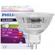 Philips LED-Reflektorlampe, MR16, CLASSIC LEDSPOT, GU5,3/12V
