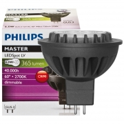 Philips LED-Reflektorlampe, MR16, MASTER LEDSPOT, GU5,3/12V, Abstrahlwinkel 60°